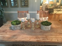 Staging The Nest - Vacant Staging - Dining Room Table Details