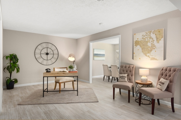 Staging The Nest - Vacant Home Staging - Study & Sitting Room