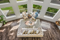 Vacant Home Staging - Staging The Nest - Living Room Aerial